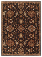 Surana - Black Traditional Classics Gold/Black Rug