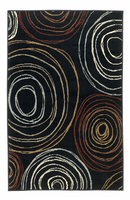 Suri - Salsa Contemporary Black/Red Rug