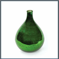 Verde Demijohn with Antiqued Silvering