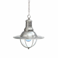 Vintage Style Factory Light with Glass Dome
