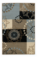 Vito - Multi Contemporary Black/Blue Rug