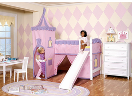 White Princess Tent Loft Bed