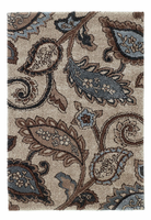 Yvette - Steel Contemporary Blue/Brown Rug