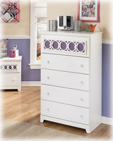 Zayley Contemporary Replicated White Paint Chest