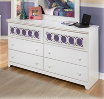 Zayley Contemporary Replicated White Paint Dresser