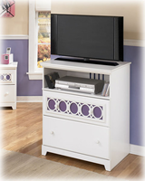 Zayley Contemporary Replicated White Paint Media Chest