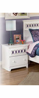 Zayley Contemporary Replicated White Paint Nightstand