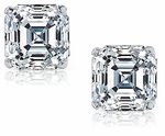 1.5 ct. Each Asscher Cut Inspired Stud Earrings Featuring Ziamond Cubic Zirconia