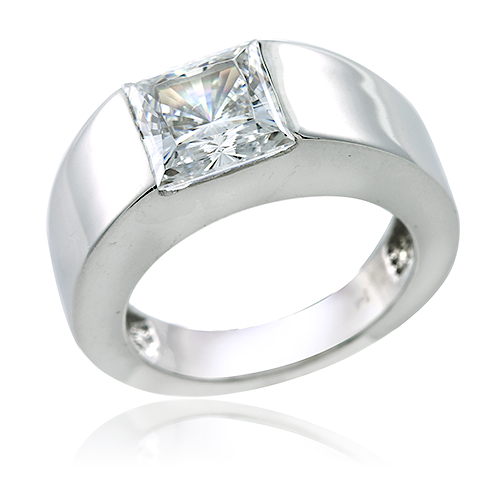 Kennedy 2 5 Carat Princess Cut Channel Set Gemlock Solitaire Engagement Ring