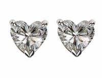 2.5 ct. Each Heart Cubic Zirconia Stud Earrings