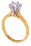 3 ct. Round Cathedral Solitaire Featuring Ziamond Cubic Zirconia