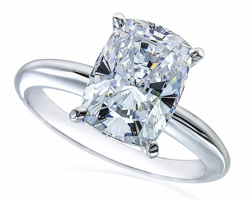 4 carat cushion emerald cut cubic zirconia classic