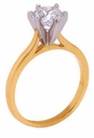 5.5 ct. Round Cathedral Solitaire Featuring Ziamond Cubic Zirconia