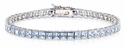 Alaria Channel Set Princess Cut Cubic Zirconia Line Tennis Bracelet
