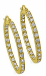 Anniston Medium Inside Out CZ Hoop Earrings