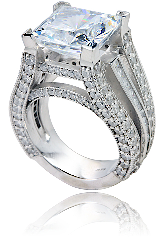 aston 7 carat princess cut cubic zirconia micro pave set