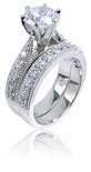 Aubrey Cubic Zirconia Cathedral Wedding Set