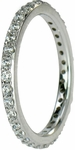 Bandello Micro Pave Set Round Cubic Zirconia Eternity Band