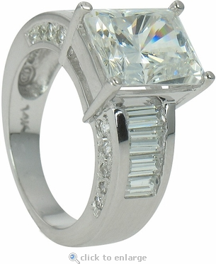 clermont 4 carat radiant emerald cut cubic zirconia with