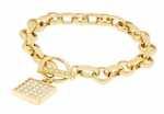 Covex Toggle Bracelet Featuring Ziamond Cubic Zirconia