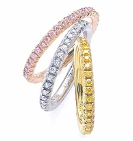Cubic Zirconia Bands, Eternity Bands, Anniversary Bands, Wedding Bands