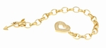 Cupid's Toggle Bracelet Featuring Ziamond Cubic Zirconia