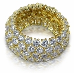 Flexa Bella Prong Set Round Flexible Cubic Zirconia Eternity Band