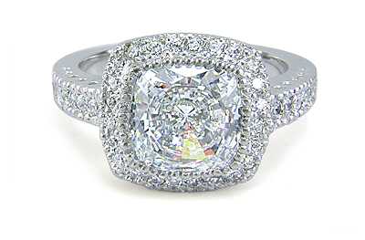 ... Carat Cushi... 1 Carat Cushion Cut Halo Engagement Ring