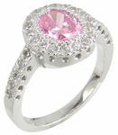 Gervase 1 Carat Oval Cubic Zirconia Halo Vertical Engagement Ring
