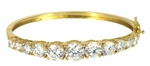 Greta Bangle Bracelet (Large Version) Featuring Ziamond Cubic Zirconia