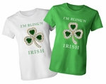 I'm Bling'n Irish St. Patrick's Day Emerald And Diamond Look Clover Shamrock T-Shirt