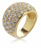 Lambdon Wide Dome Cubic Zirconia Pave Anniversary Band
