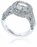 Legend 4 Carat Halo Cushion Cut Solitaire