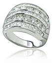 Massimo Round Princess Cut Wide Cubic Zirconia Channel Set Anniversary Band