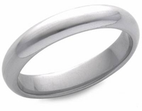 Men's 4mm Comfort Fit Wedding Band in PLATINUM