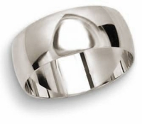 Men's 8mm Comfort Fit Wedding Band in PLATINUM