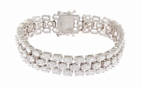 Ovation Three Row Basket Set Oval Cubic Zirconia Bracelet