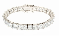 Parisian 1 Carat Each Basket Set Square Princess Cut Bracelet