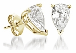 Pear Shape Cubic Zirconia Stud Earrings