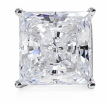 Princess Cut 5.5 Carat Each Cubic Zirconia Basket Set Stud Earrings