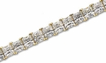 Princess Cut Square Prong Set Bracelet Featuring Ziamond Cubic Zirconia