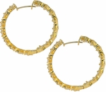Princessia Cubic Zirconia Hoop Earrings