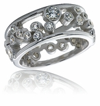 Round Bezel Floating Bubble Eternity Band