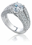 Revelle Cubic Zirconia Solitaire CZ Engagement Ring