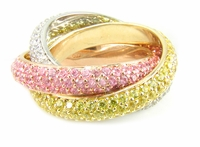 The Trio Eternity  Ring By Ziamond