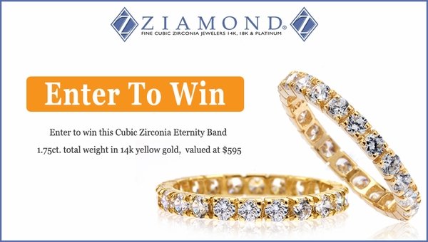 round diamond look prong set eternity band 14k yellow gold sweepstakes November, 2016