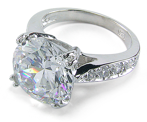 Winston 55 Carat Round Cubic Zirconia Pave Cathedral