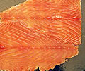Premium Atlantic  Smoked Salmon Sliced, Skin On ( ~ 2.2. LB)
