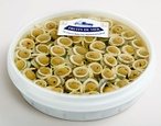 Marinated White Anchovies in Sunflower Oil with Green Olives, 2.2 LB