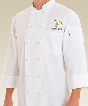 Culinary Student Chef Coat with Logo